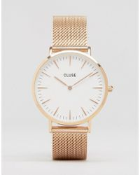 Cluse - La Boheme Mesh Rose Gold Watch Cl18112 - Lyst