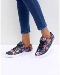 Oasis - Floral Printed Trainer - Lyst