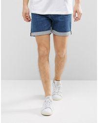 Weekday - Beach Day Denim Shorts Mid Standard - Lyst