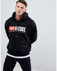 DIESEL - S-division Industry Logo Hoodie Black - Lyst