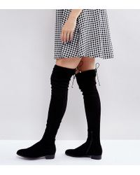 ASOS - Keep Up Tall Flat Over The Knee Boots - Lyst