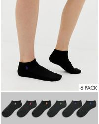 Polo Ralph Lauren - 6 Pack Low Cut Sneaker Socks With Cusion Sole - Lyst