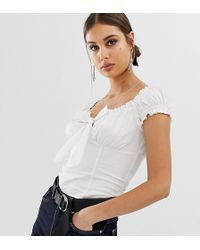 NA-KD Ruffle Top In White