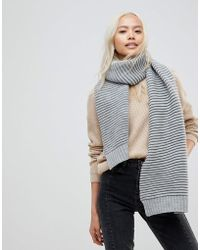French Connection - Ribbed Scarf - Lyst