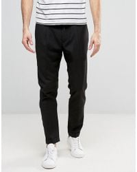 Casual Friday - Slim Fit Trousers With Drawstring Waist - Lyst