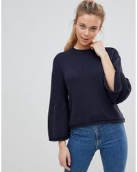 ONLY - Sana Bell Sleeved Knit Sweater - Lyst