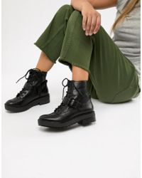 Bershka - Lace Up Boot - Lyst