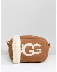 UGG - Janey Chestnut Sheepskin Crossbody Bag - Lyst