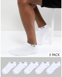 French Connection - 5 Pack Trainer Socks - Lyst