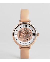 Sekonda - Exposed Mechanics Leather Watch Exclusive To Asos - Lyst