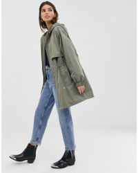 ASOS - Lightweight Parka With Jersey Lining - Lyst