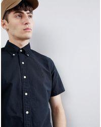 Polo Ralph Lauren - Player Logo Short Sleeve Oxford Shirt Button-down Custom Regular Fit In Black - Lyst