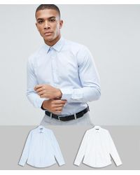 French Connection - 2 Pack Slim Fit Shirts - Lyst