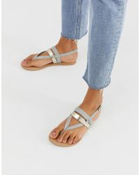 Office - Salute Leather Flat Sandals - Lyst