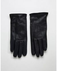 Paul Costelloe - Basic Leather Gloves In Black - Lyst