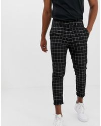 New Look - Trousers In Window Pane Check - Lyst