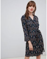 Darling - Geo Print Belted Shirt Dress - Lyst