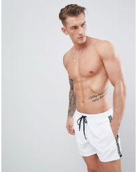 Björn Borg - Swim Shorts With Taped Logo - Lyst