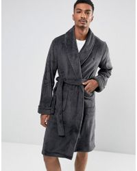 French Connection - Fleece Dressing Gown - Lyst