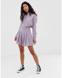 d28b738274 Daisy Street - Pleated Mini Skirt In Gingham Co-ord - Lyst