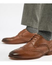 KG by Kurt Geiger - Kg By Kurt Geiger Wide Fit Brogues In Tan Leather - Lyst