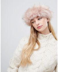 ALDO - Grilaclya Faux Fur Headband - Lyst