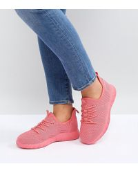ASOS - Dedicate Wide Fit Knitted Sneakers - Lyst