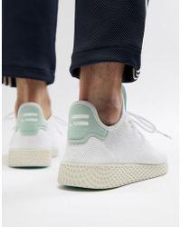 adidas Originals - Pharrell Williams Tennis Hu Trainers In White Cq2168 - Lyst
