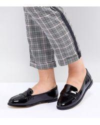 London Rebel - Wide Fit Flat Loafers - Lyst