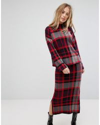 Warehouse - Oversized Check Jumper - Lyst