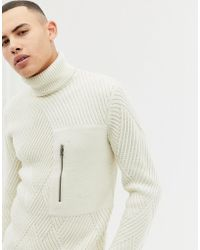 Only & Sons - Roll Neck Cable Knit Jumper - Lyst