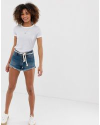 Hollister - Mom Fit Denim Shorts - Lyst