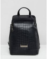 Claudia Canova - Structured Croc Backpack - Lyst