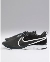 9a7b32cdf88f Nike Air Zoom Pegasus 34 Trainers In Black 880555-017 in Black for ...