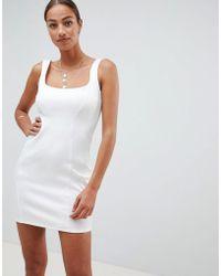 ASOS - Scuba 90s Scoop Neck Mini Dress - Lyst
