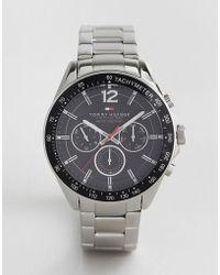 Tommy Hilfiger - 1791104 Luke Silver Strap Watch - Lyst