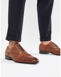ALDO - Legawia Toe Cap Lace Up Shoes In Tan Leather - Lyst