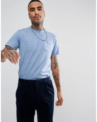 Gio Goi - Logo Pocket T-shirt In Blue - Lyst