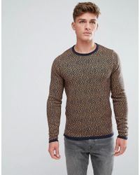 Solid - Jumper In Diamond Pattern - Lyst