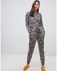 New Look - Jogger Co Ord In Leopard Print - Lyst