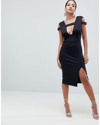 ASOS - Design Strappy Cut Out Midi Dress - Lyst