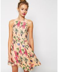 ASOS | Premium Pretty Full Skater Dress | Lyst