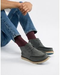 TOMS - Chukka Waterproof Lace Up Boots In Grey Suede - Lyst