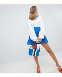 ASOS - Asos Design Petite Pleated Mini Skirt - Lyst