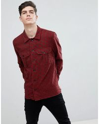Mango - Man Regular Fit Check Flannel Shirt In Red - Lyst