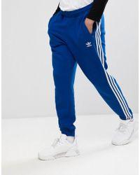adidas Originals - Adicolor 3-stripe Joggers In Blue Cw2430 - Lyst