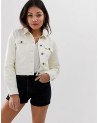 Miss Selfridge - Utility Jacket In Cream - Lyst