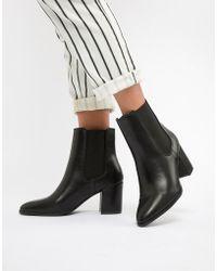 River Island - Block Heel Chelsea Boots In Black - Lyst
