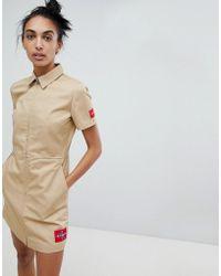 Calvin Klein - Zip Through Cotton Dress - Lyst