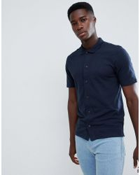 SELECTED - Slim Fit Polo Shirt - Lyst